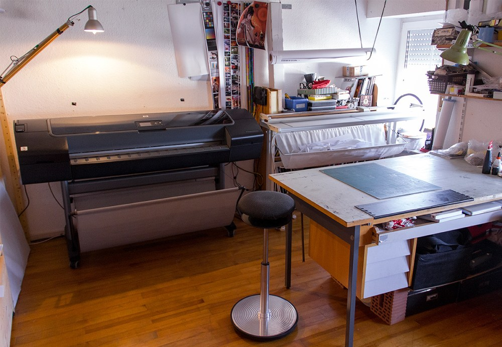 The Printing workplace before and after a printing session
