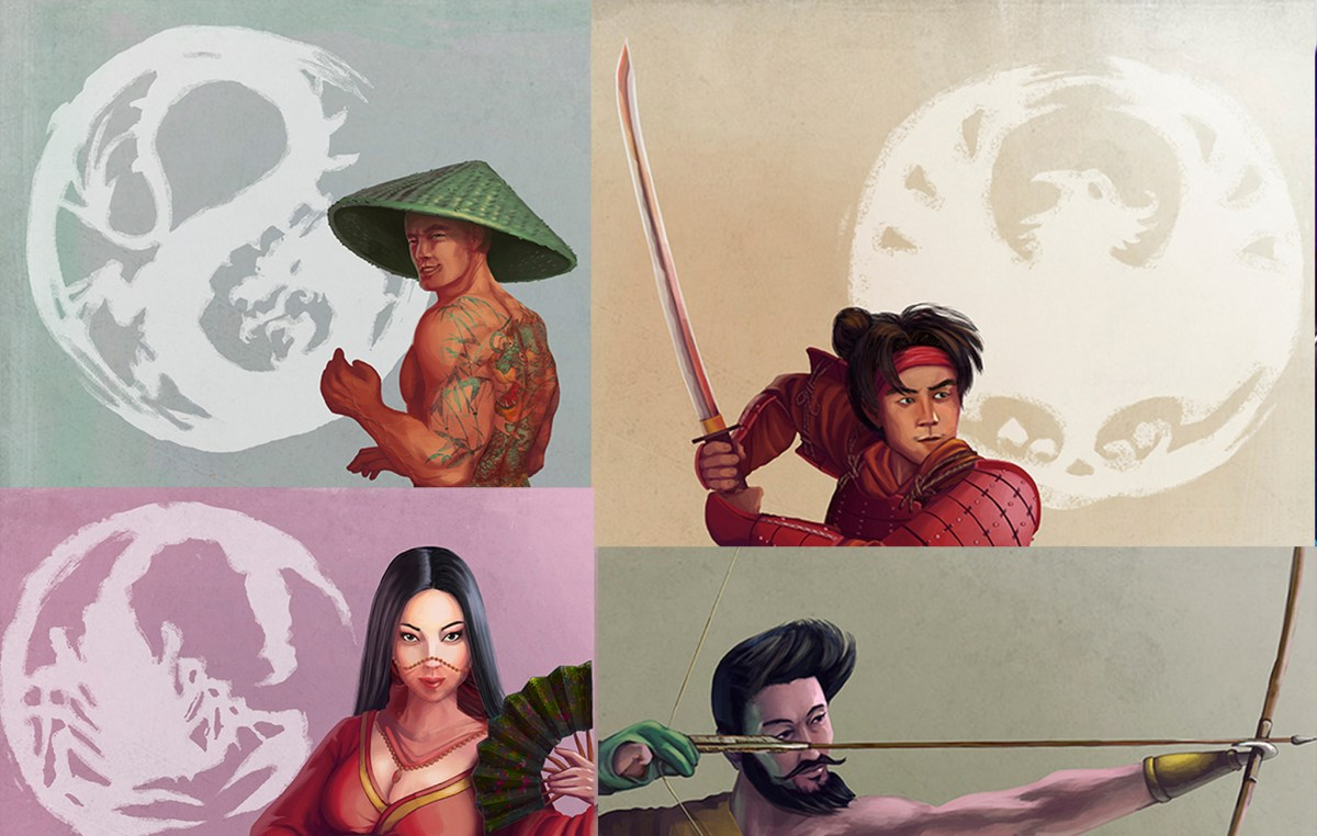 Daniele Cruz's Legend of Five Rings characters