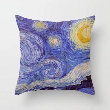 Vincent Van Gogh Starry Night Throw Pillow