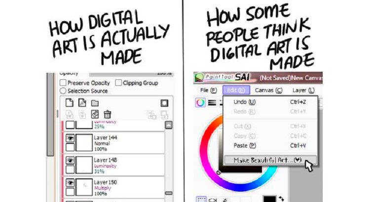 Is Digital Art a plagiarism of 'Real Art'?