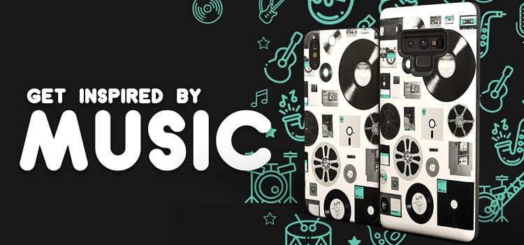 Música como inspiración. Fundas personalizadas inspiradas en la música.