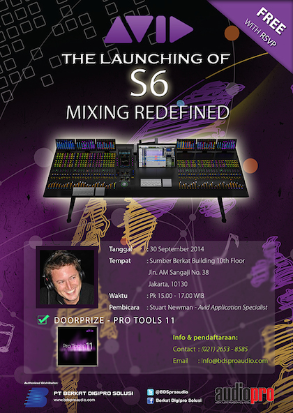 Launching Avid S6 BDS