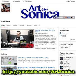 Youtube channel ArtSonica
