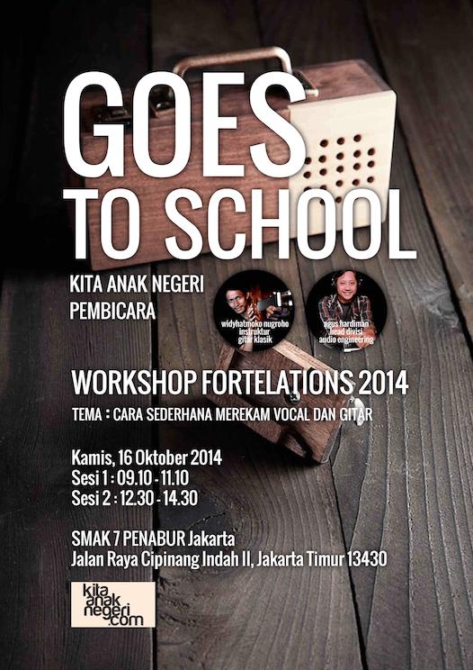 Goes To School ke SMA Penabur Jakarta