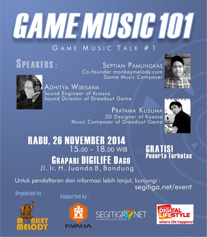 Game Music Talk #1, Berbagi Ilmu dan Networking Dunia Musik Game