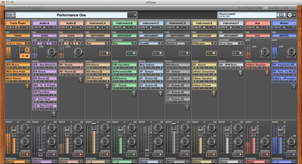 InTone 2, software live sequencer yang bernuansa mixing console (versi berbayar)