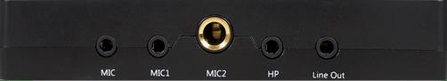 Tampak depan audio interface XOX KS108