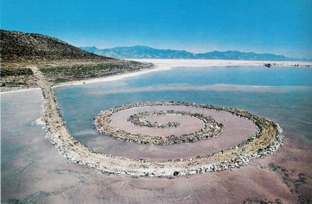Robert Smithson, Spiral Jetty, Great Salt Lake of Utah, 1970