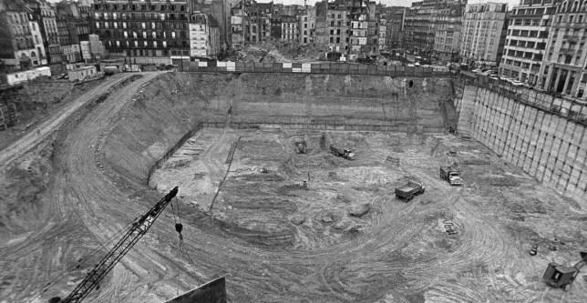 photo du Chantier, du Centre Pompidou, 1972