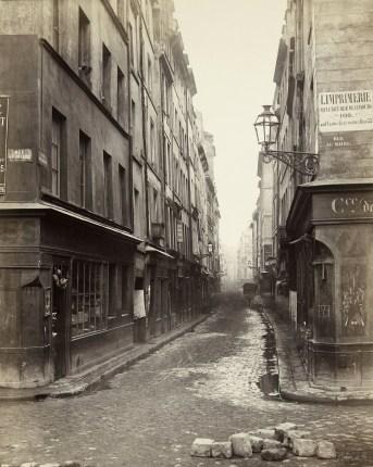 Popmpidou, Rue Beaubourg 1866 ©Charles Marville