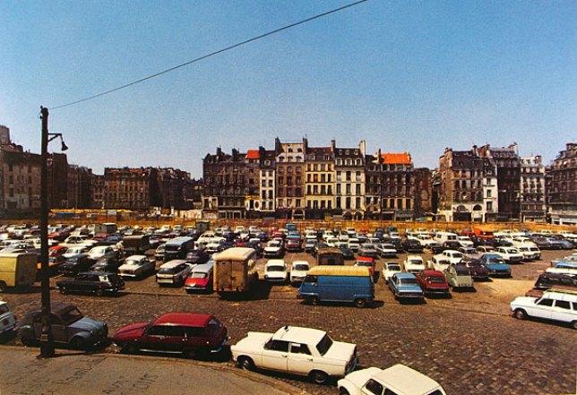 Parking avant la construction du Centre Pompidou, 1967
