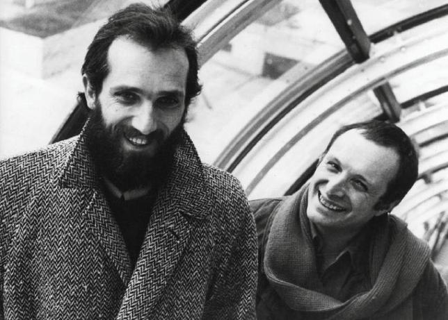 The two Architects, Renzo Piano and Richard Rogers, 1977