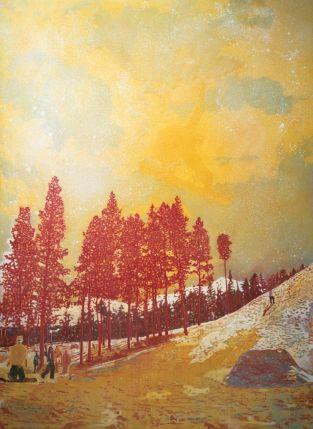 Peter Doig, Orange Sunshine, oil on canvas 1995-1996