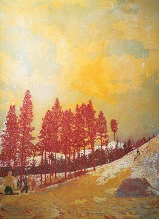 Peter Doig, Orange Sunshine, huile sur toile