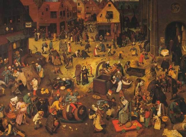 pieter brueghel le combat de carnaval et de careme