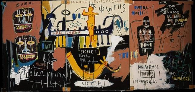 Jean-Michel Basquiat, El gran espectaculo (History of black people), 1983