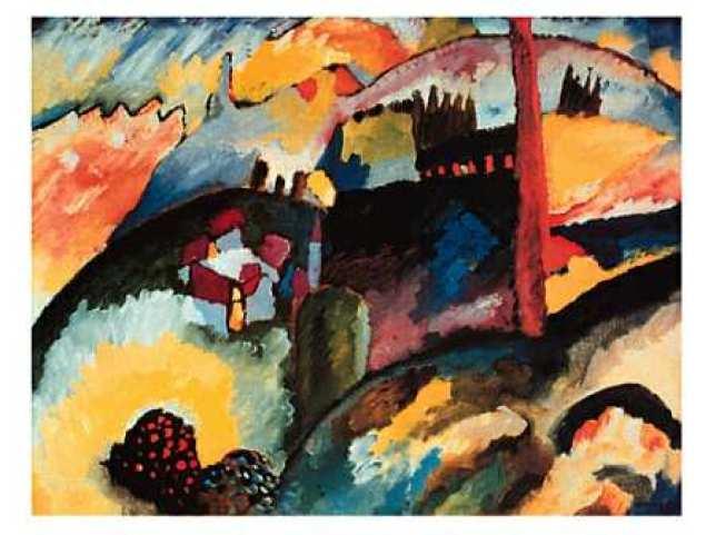 Wassily Kandinsky, Paysage avec cheminée d'usine, 1910
