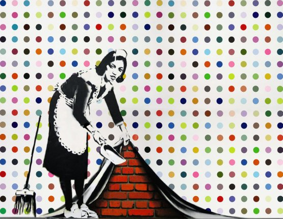 Keep it spotless, Banksy et Damien Hirst, 2008