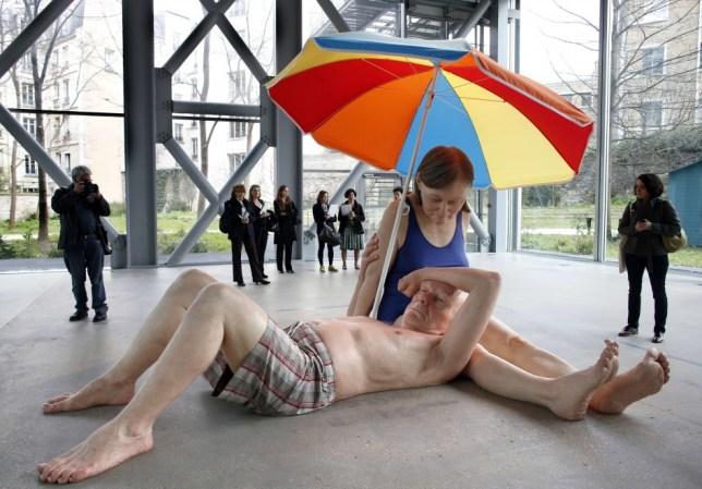 sculpture hyperréaliste mueck