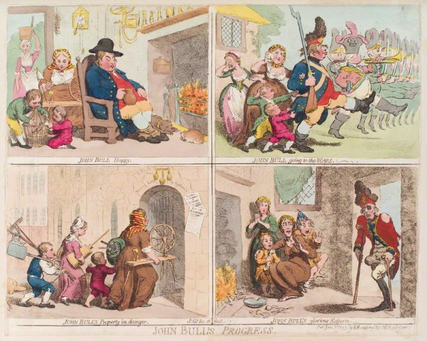 by James Gillray, published by Hannah Humphrey, hand-coloured etching, published 3 June 1793