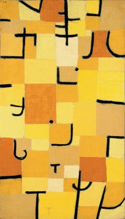 jaune personnages klee abstraction géométrique