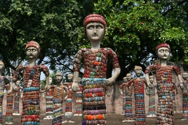 Rock garden Nek Chand Inde lecorbusier