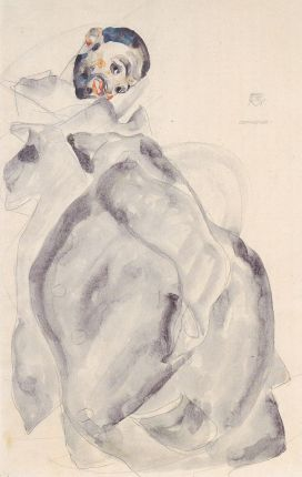 Egon Schiele 'Prisoner!', pencil and watercolor, 1912