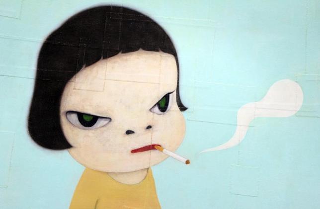 Yoshimoto Nara - Girl with a cigarette