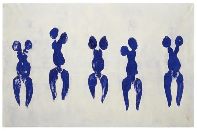 Yves Klein, Anthropométrie de l'Époque Bleue