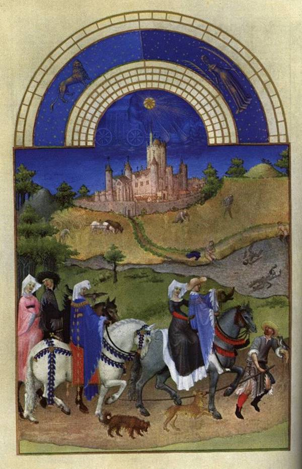 summer in art history medieval painting summer calendar zodiac