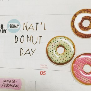 Love the puffy donut stickers