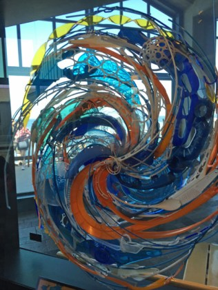 Art Exhibit utilizing recycled material at the Monterey Aquarium