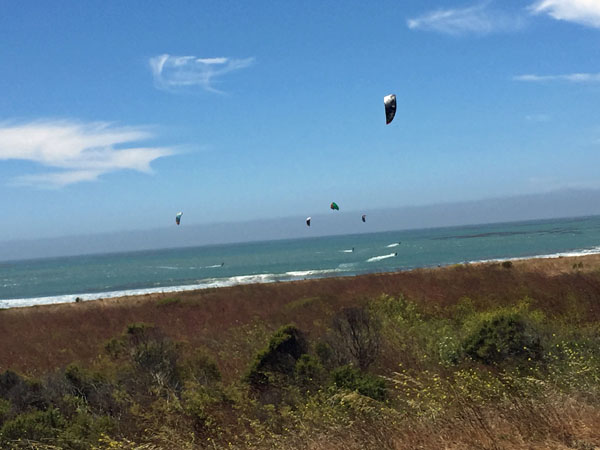Catching Some Wind and Surfing