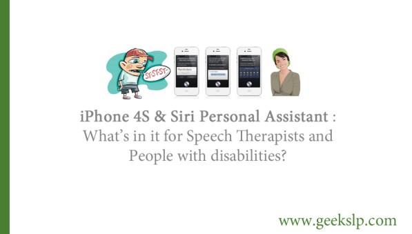 Siri for disability