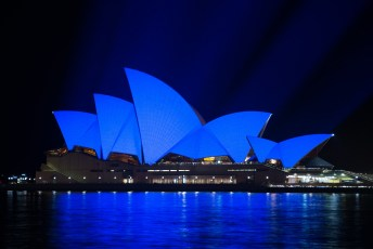 The Sydney Opera House glowed blue on April 2, along with thousands of other monuments and buildings around the world to commemorate World Autism Awareness Day.
