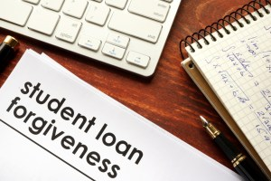 Document with title student loan forgiveness.
