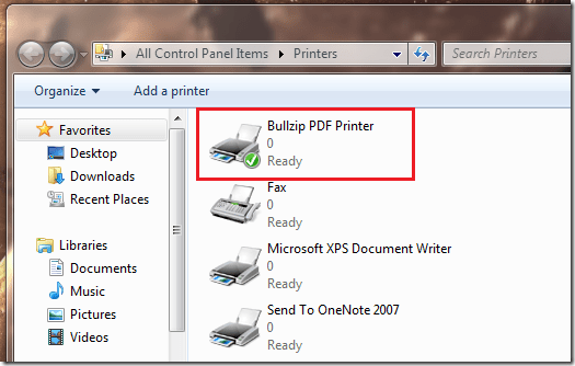 Pdf Printer Bullzip