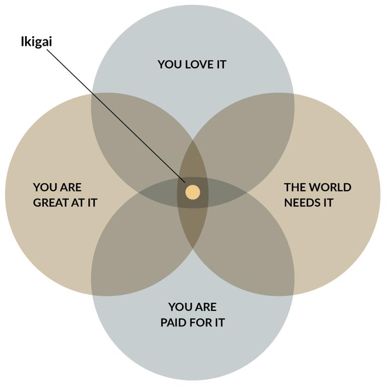 Ikigai venn diagram