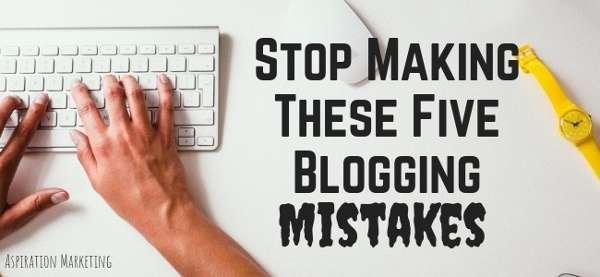 Erreurs de blog