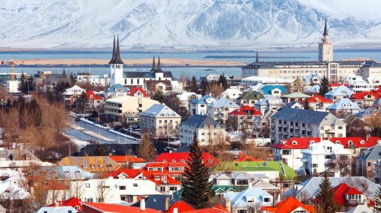 Cityscape of Reykjavik, Iceland
