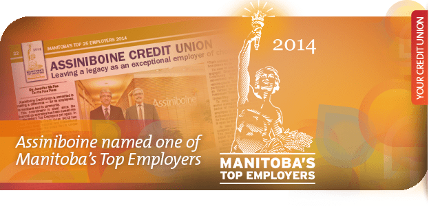 assiniboine credit union named one of manitoba s top employers in 2014