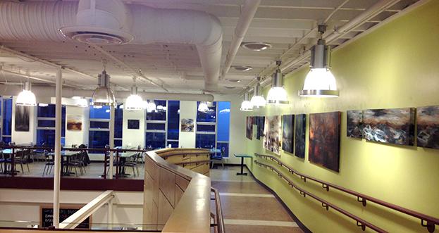 Lisa Delorme Meiler, métis artist, Art Exhibition at Neechi Commons works on display