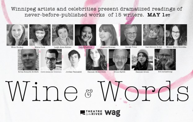 2015 Wine and words, presented by Theatre by the River, at the WAG Writers