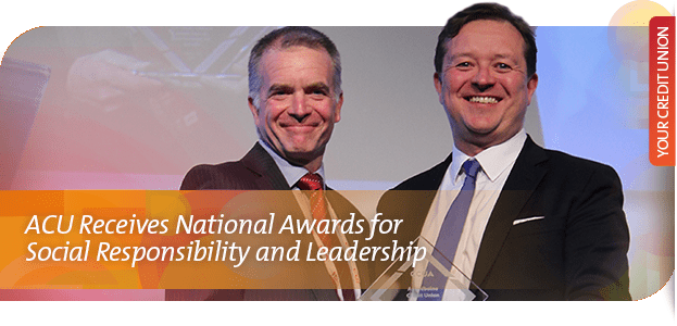 SOCIAL RESPONSIBILITY AWARD recognizes the leadership, innovation and advancement that credit unions are demonstrating in their social and environmental performance.