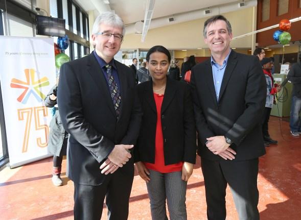Kevin Sitka (ACU), Fitsum Getahun (IRCOM), Brendan Reimer (ACU).
