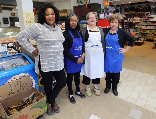 Local entrepreneur Elizabeth Lawal and the team from Akin's International Foods in Winnipeg