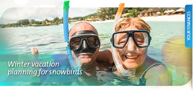 winter vacation planning snowbirds