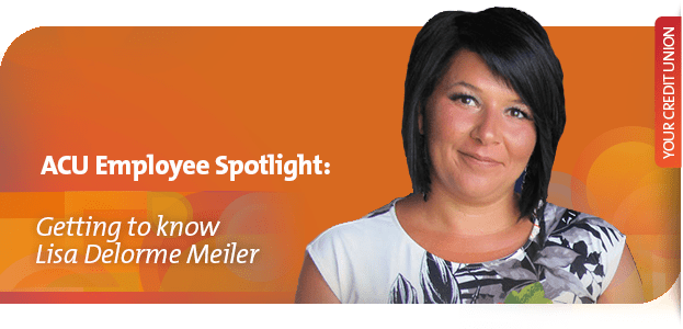 Lisa Delorme Meiler, graphic designer, assiniboine credit union