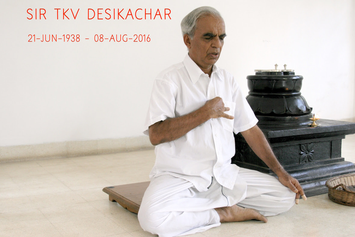Sir TKV Desikachar reached the lotus feet of the lord