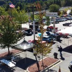 Overhead view of our 3rd annual Disabled American Veteran's car show from the roof of Waynesville Chevrolet Buick 2